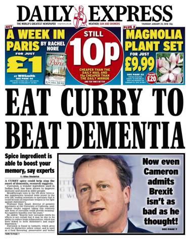 Curry dementia